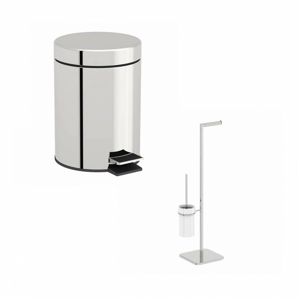 Options White Toilet Accessory Set