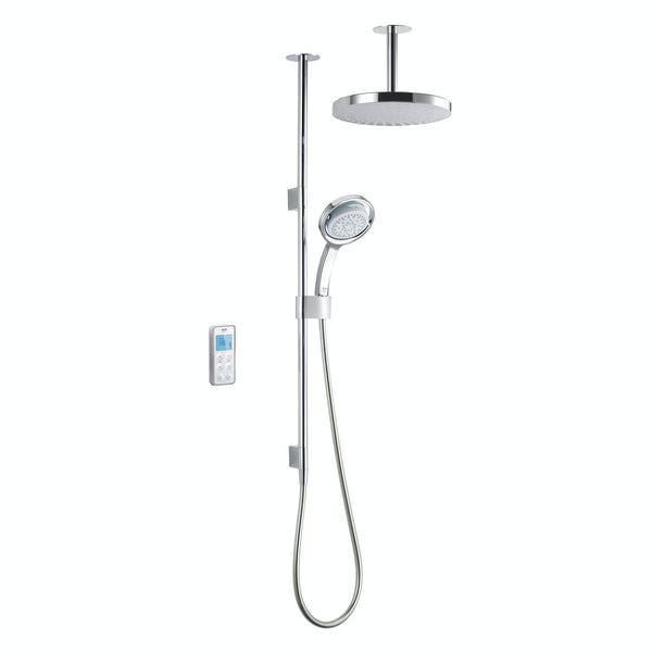 Mira Vision dual ceiling fed digital shower standard