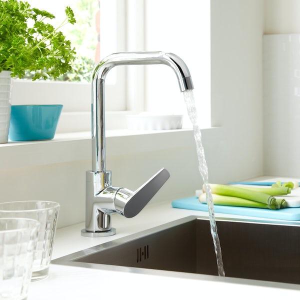 Bristan Blueberry easyfit single lever kitchen mixer tap