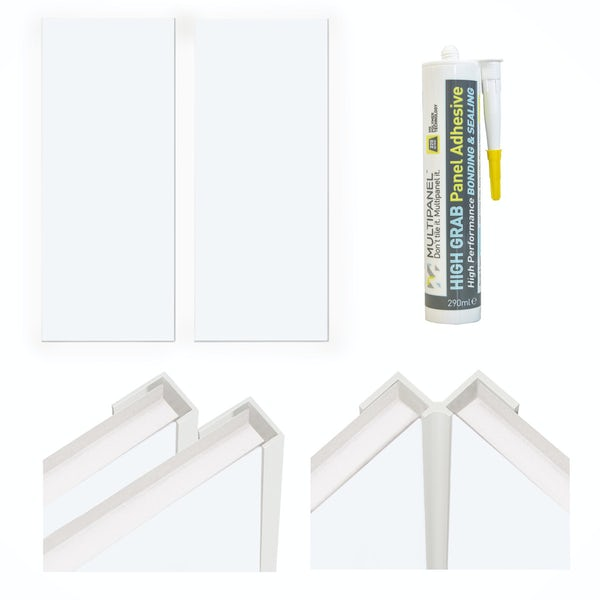 Multipanel Economy Snow Drift shower wall panel installation set for enclosures up to 1000 x 1000