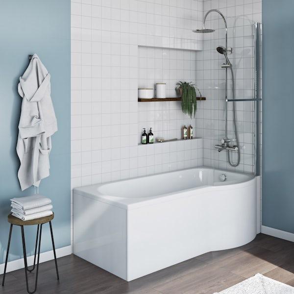 Evesham 1500 x 800 RH & Screen with Towel Rail