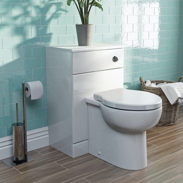 Eden white back to wall toilet unit