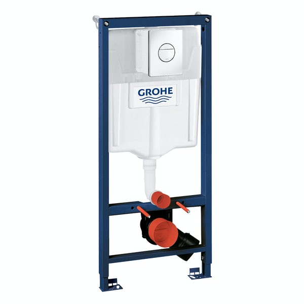 Grohe Rapid SL Set 3 in 1 wall mounting frame with round button Nova Cosmopolitan push plate 1.13m