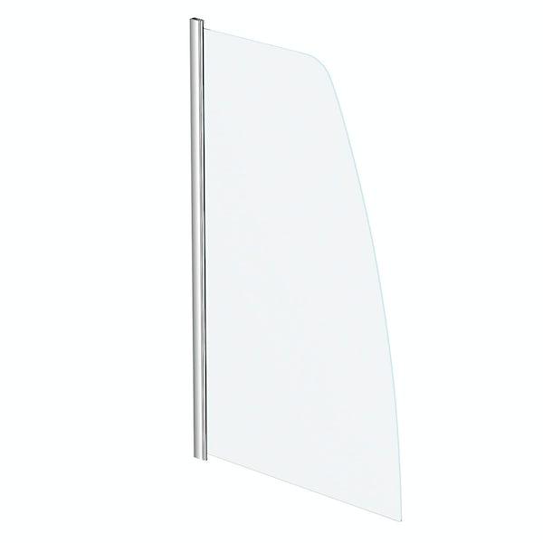 Orchard 6mm sail shaped straight shower bath screen