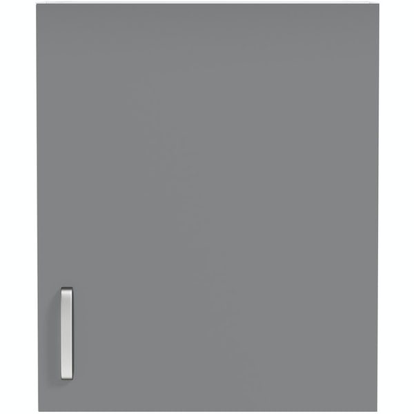 Schon Boston mid grey slab wall unit