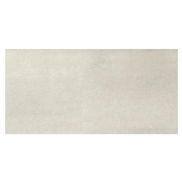 Faro white stone effect flat matt wall and floor tile 300mm x 600mm