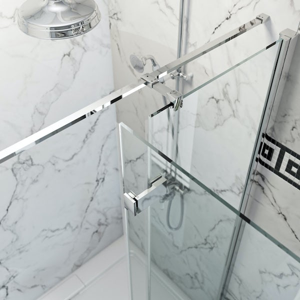 The Bath Co. Beaumont traditional 8mm hinged shower enclosure