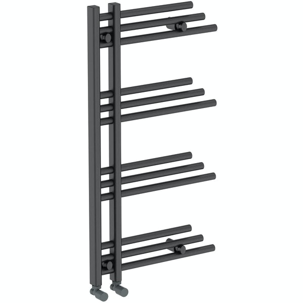 Harrison anthracite heated towel rail 950 x 500