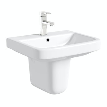 Mode Carter 1 tap hole basin semi pedestal basin 550mm