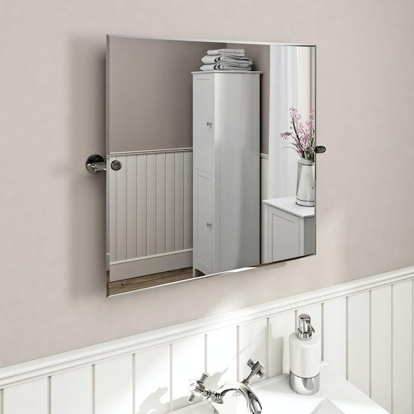 The Bath Co. Traditional square pivot mirror