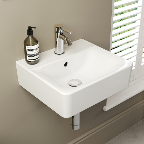 Ideal Standard Concept Cube 1 tap hole wall hung basin 400mm