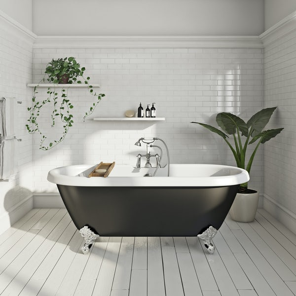 The Bath Co. Dulwich roll top bath with ball feet black