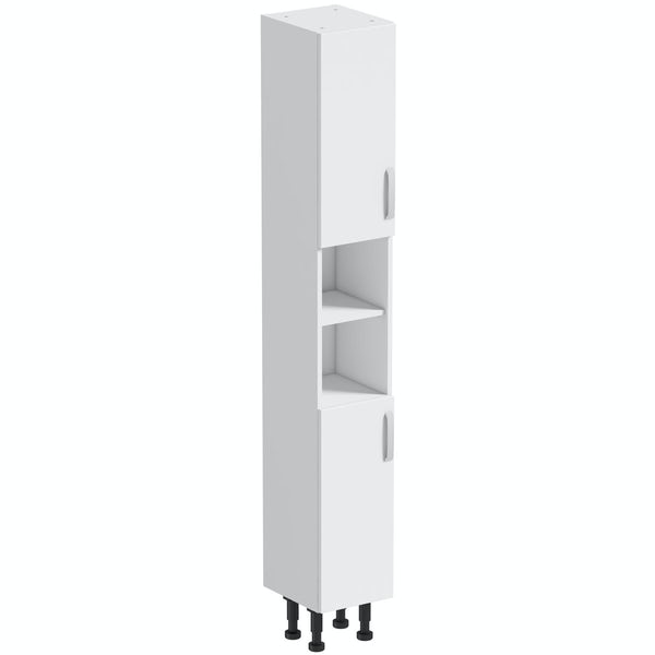 Mode Nouvel gloss white tall cabinet