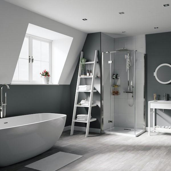 Mode South Bank white ladder shelf