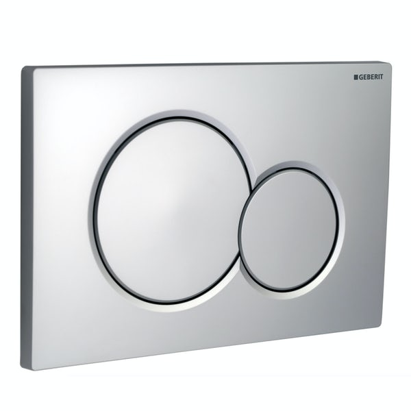Geberit Sigma01 dual flush plate gloss chrome