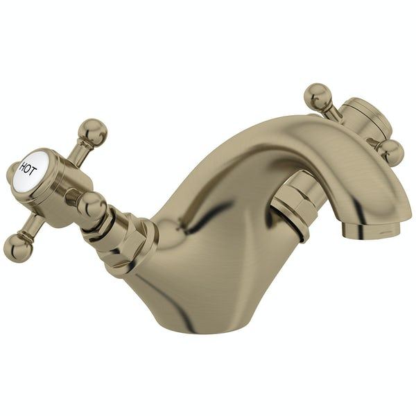 The Bath Co. Dalston antique bronze basin mixer tap