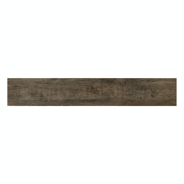 Kingston multi brown wood effect matt wall and floor tile 200mm x 1200mm