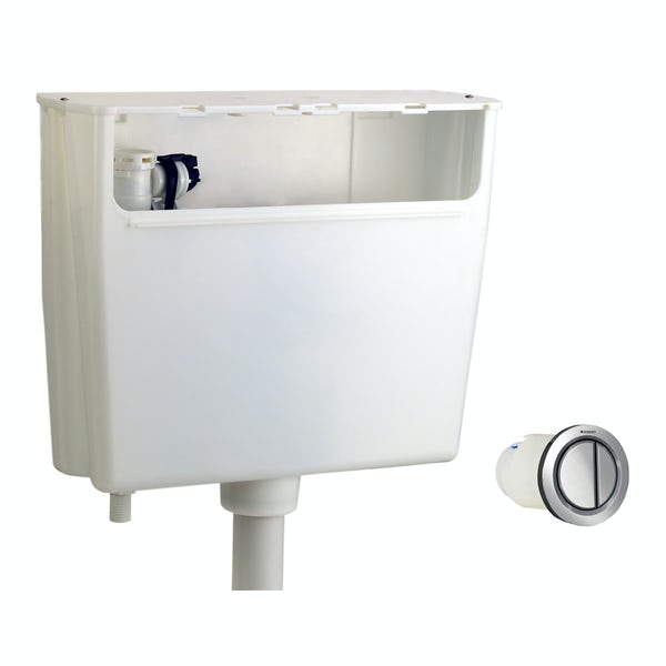 Geberit concealed dual flush cistern with air button