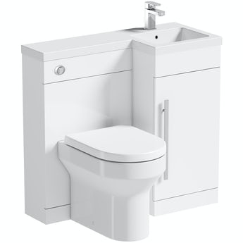 Orchard MySpace white right handed combination with Wharfe back to wall toilet
