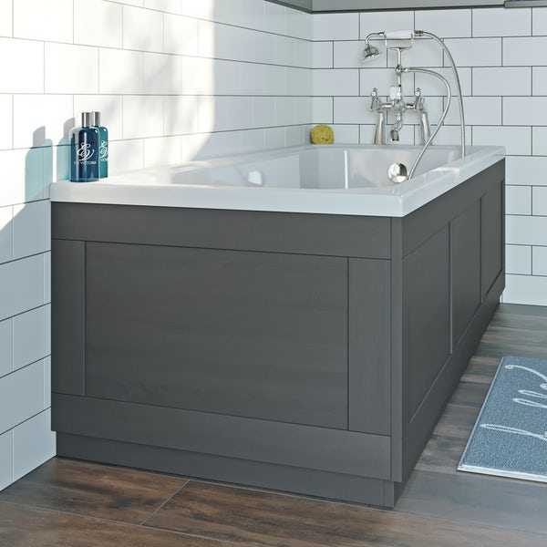 The Bath Co. Newbury dusk grey bath end panel 680mm
