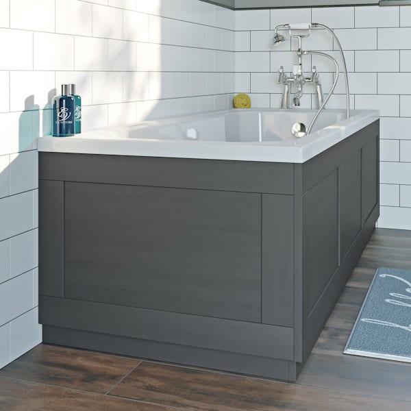 The Bath Co. Newbury dusk grey bath end panel 680mm