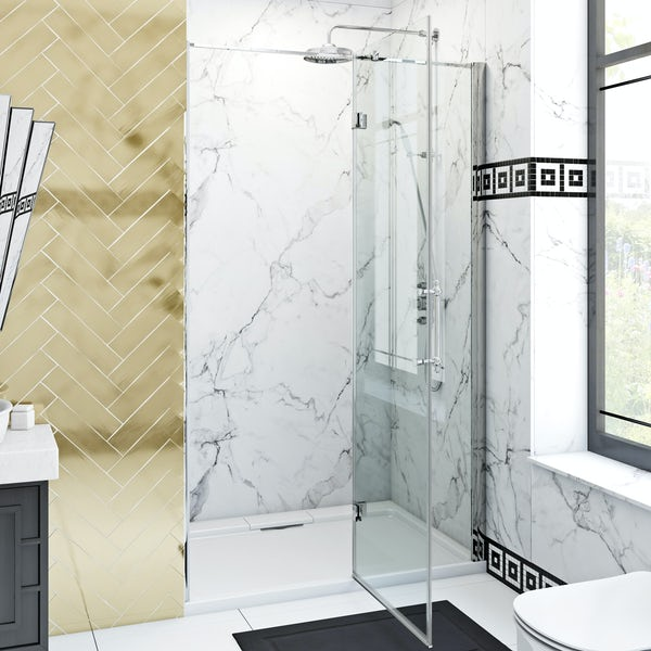 The Bath Co. Beaumont traditional 8mm hinged shower door