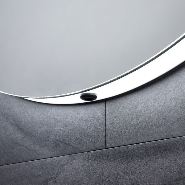 Mode Deacon round diffused LED illuminated mirror 600 x 600mm with demister