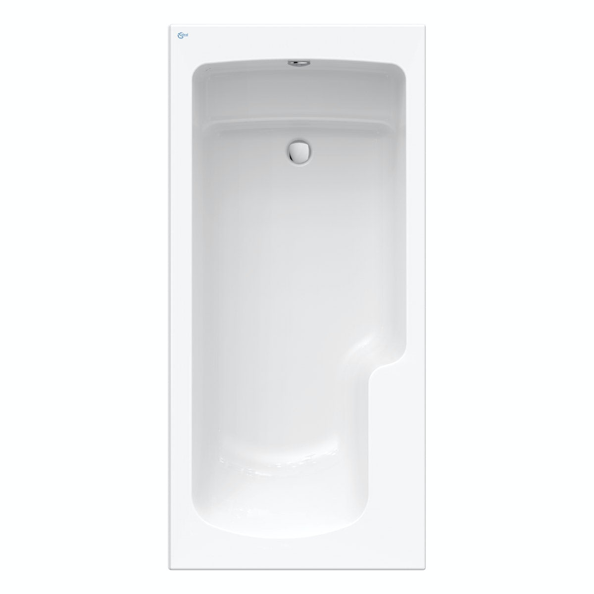 Ideal Standard Concept Freedom Idealform Plus right handed shower bath 1700 x 800 with front bath panel and bath waste
