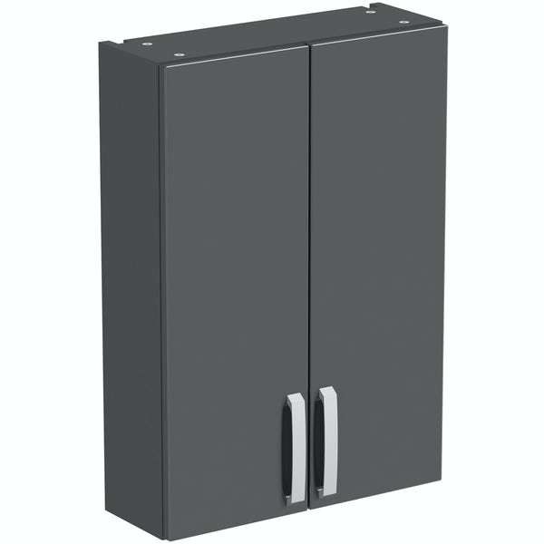 Mode Nouvel gloss grey wall cabinet 500mm
