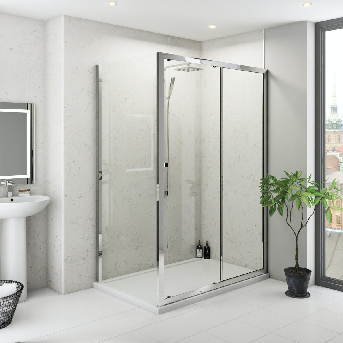 Multipanel Classic Marble Hydrolock shower wall panel 598