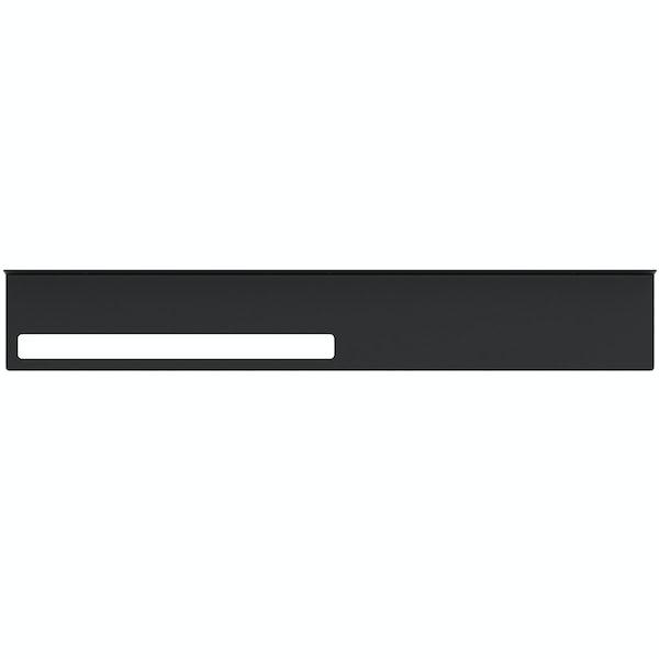 Accents Mono black 800mm bathroom shelf