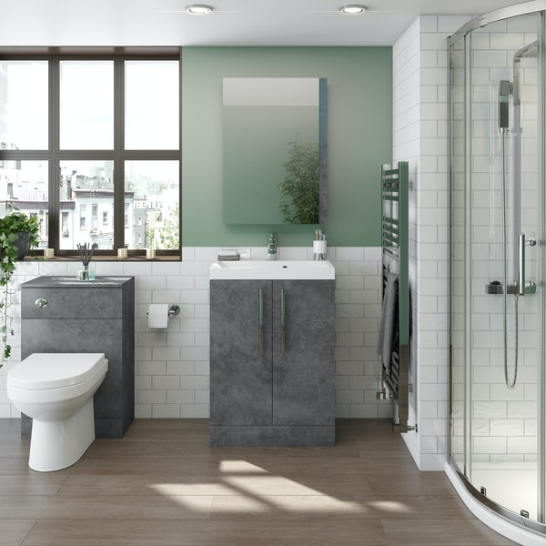Orchard Kemp floorstanding vanity unit and basin 600mm
