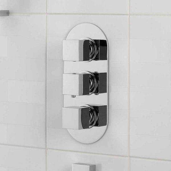 Mode Ellis oval triple thermostatic shower valve