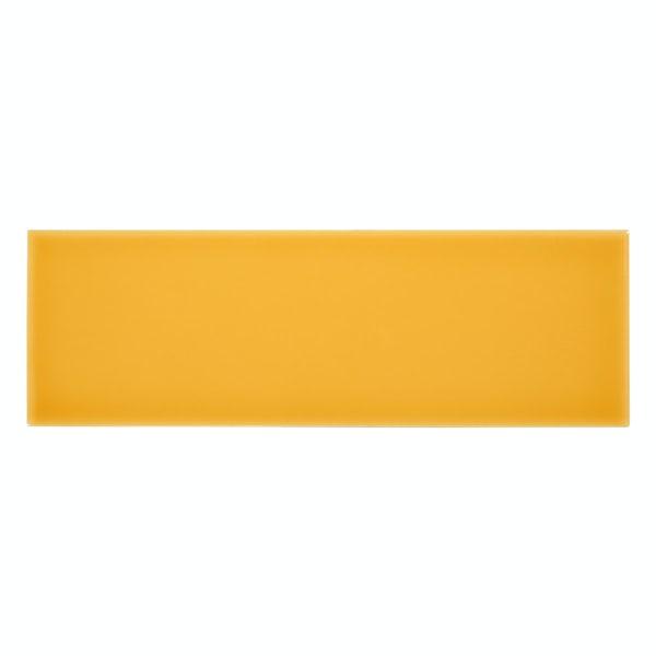 Zenith yellow flat gloss wall tile 100mm x 300mm
