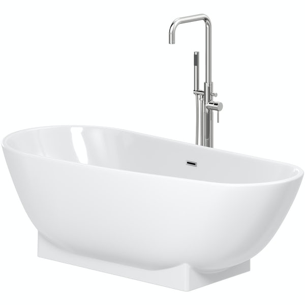 Mode Burton freestanding bath & tap pack with Anderson bath filler