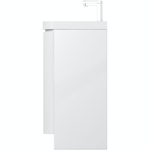 Mode Harrison Snow floor standing door unit and basin 600mm