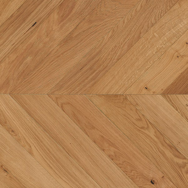 Tuscan Modelli Chevron natural oak multiply brushed engineered wood flooring