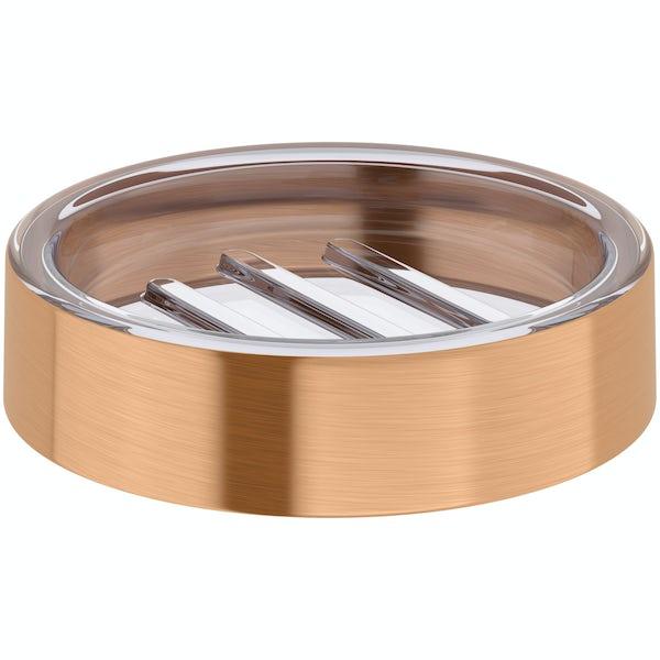 Glaze copper soap dish