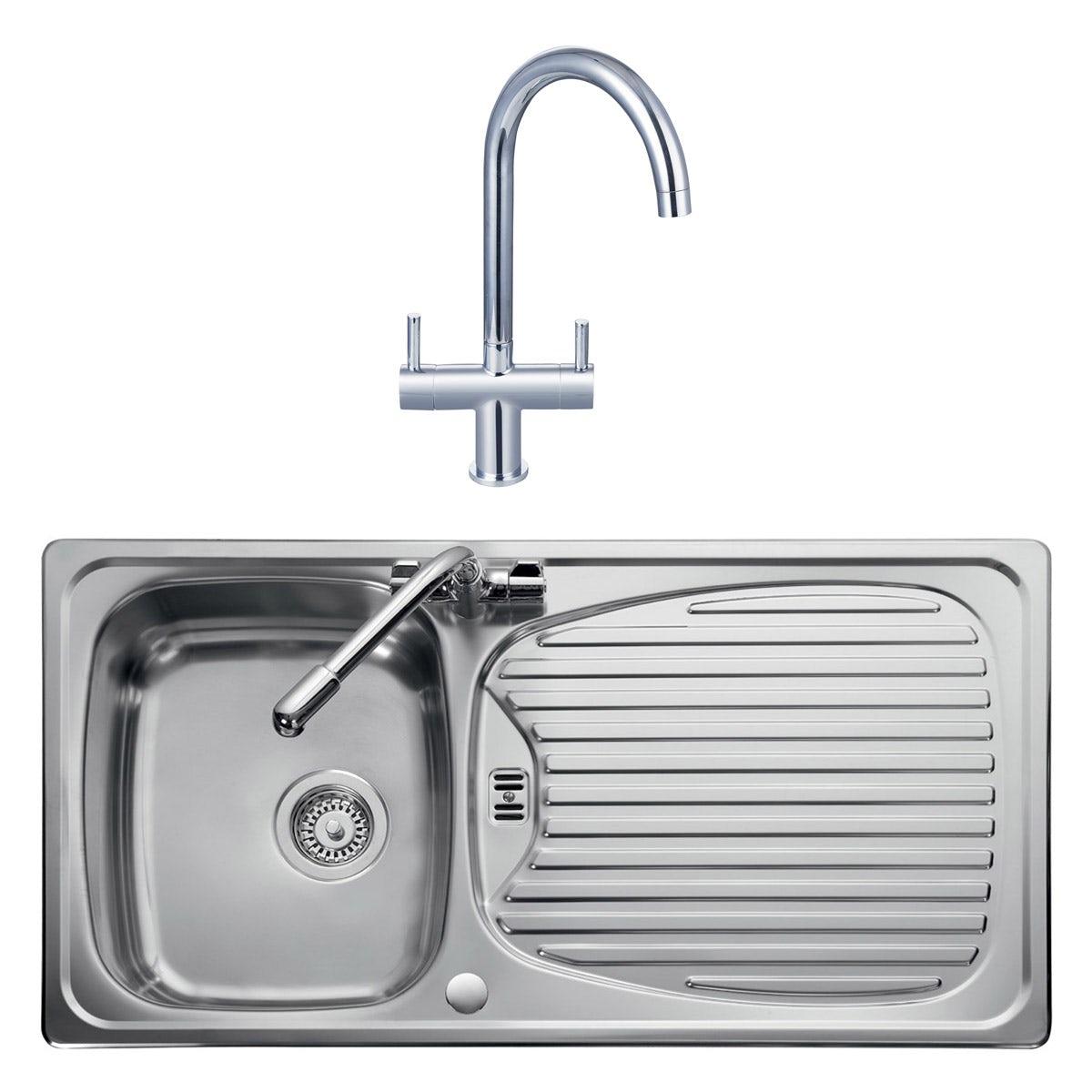 Stainless Steel 1 0 Bowl Kitchen Sink