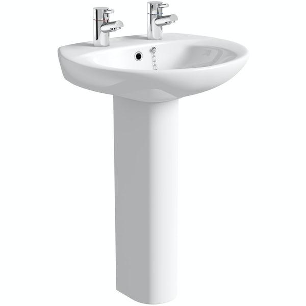 Clarity 2 tap hole basin 580mm
