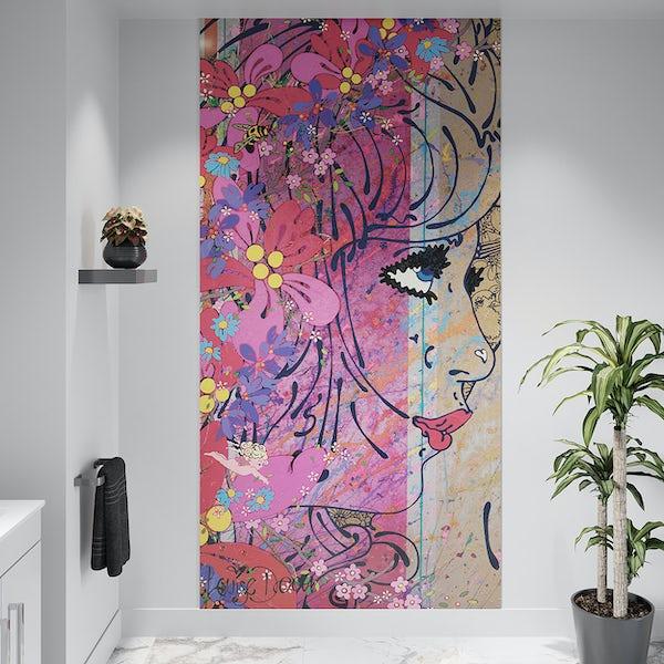 Louise Dear Oooh Yeah! acrylic shower wall panel 2400 x 1220mm