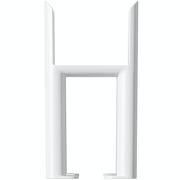 Clarity white 4 column radiator feet