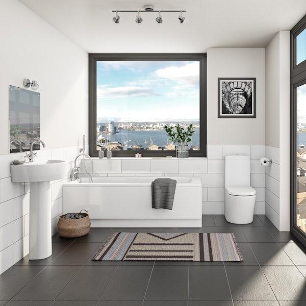 Kaldewei Saniform and Mode complete straight bath suite 1700 x 700