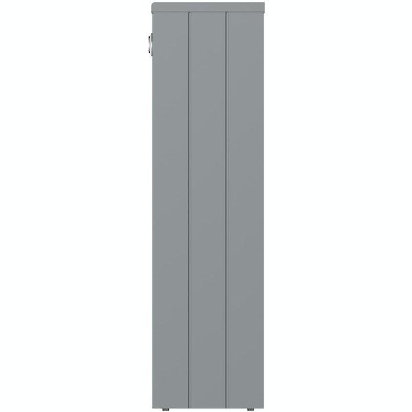 The Bath Co. Dulwich stone grey slimline back to wall toilet unit