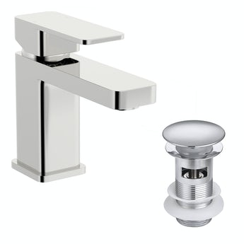 Kirke Connect WRAS basin mixer tap with click clack waste