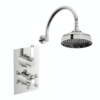 The Bath Co. Winchester concealed thermostatic mixer shower with wall arm