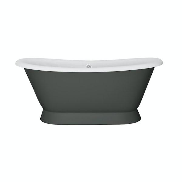 The Bath Co. Stirling smoke grey cast iron bath