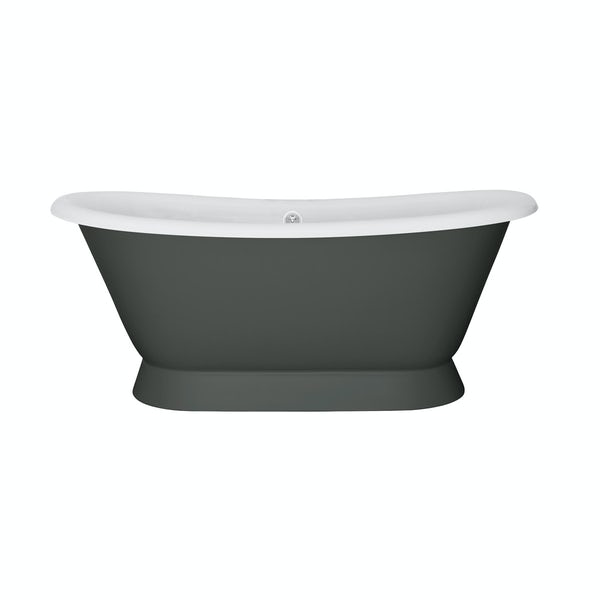 Belle de Louvain Stirling smoke grey cast iron bath
