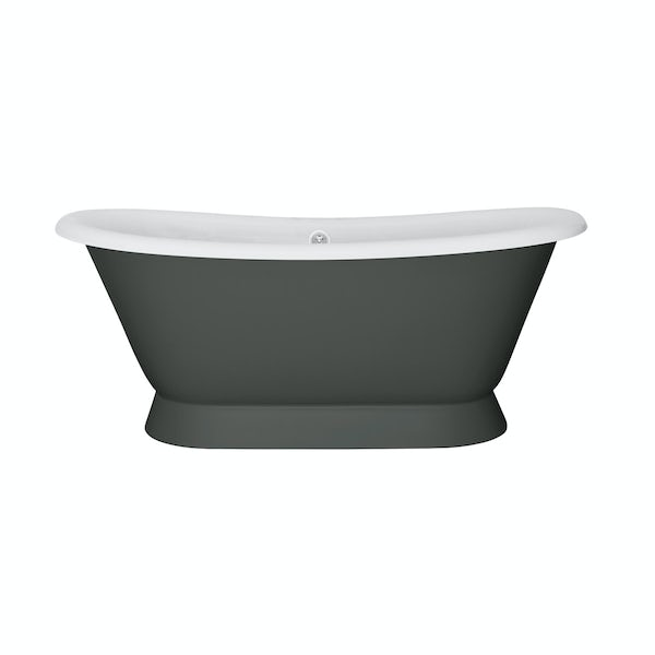 The Bath Co. Stirling smoke grey cast iron bath