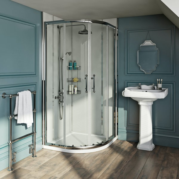 The Bath Co. Winchester 6mm traditional quadrant shower enclosure